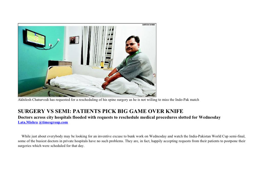 Surgery Vs Semi: Patients Pick Big Game Over Knife